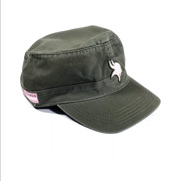 530f3015 NFL Women's Olive Green Minnesota Vikings Cap